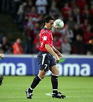 Fotball<br /> VM-kvalifisering<br /> Norge v Hviterussland<br /> Ullevaal stadion<br /> 8. september 2004<br /> Foto: Digitalsport<br /> Martin Andresen, Norge