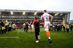 Ted Hill of Worcester Warriors runs out at Sixways Stadium - Mandatory by-line: Robbie Stephenson/JMP - 15/02/2020 - RUGBY - Sixways Stadium - Worcester, England - Worcester Warriors v Bath Rugby - Gallagher Premiership Rugby