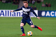 MELBOURNE, AUSTRALIA - APRIL 23: Corey Brown (3) of Melbourne Victory crosses the ball during the AFC Champions League Group Stage match between Melbourne Victory and Guangzhou Evergrande at AAMI Park on April 23, 2019 in Melbourne, Australia. (Photo by Speed Media/Icon Sportswire)