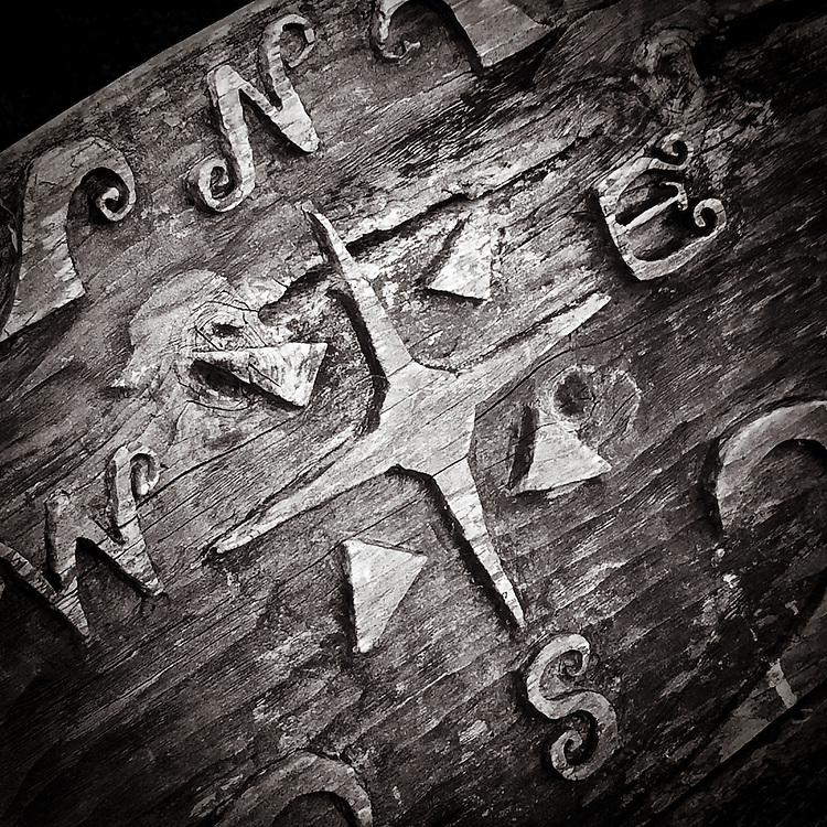 A hand carved compass | Summer 2014