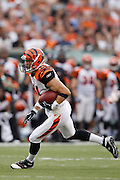 CINCINNATI, OH - AUGUST 15: Jordan Shipley #11 of the Cincinnati Bengals runs with the ball after catching a pass during the preseason game against the Denver Broncos at Paul Brown Stadium on August 15, 2010 in Cincinnati, Ohio. The Bengals won 33-24. (Photo by Joe Robbins) *** Local Caption *** Jordan Shipley