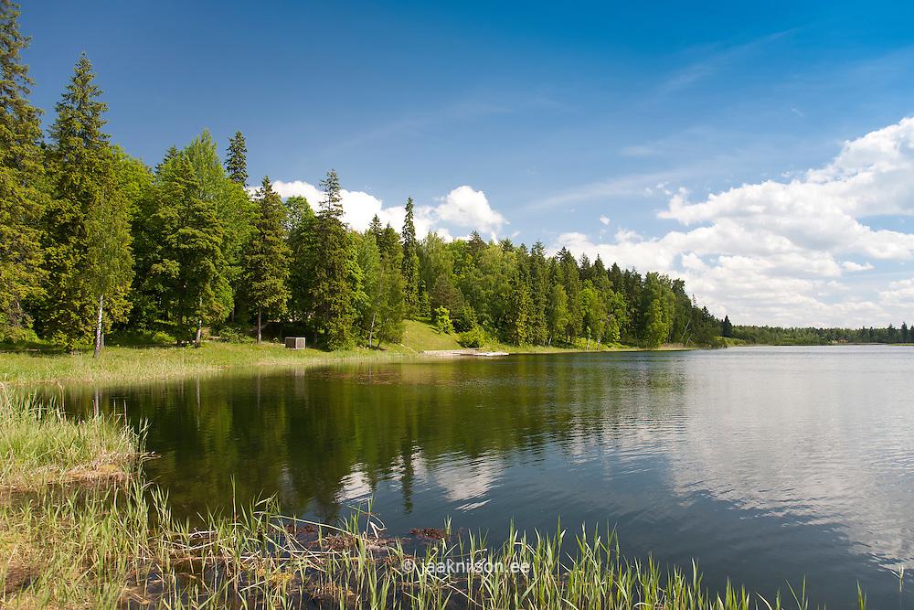 Landscape by Porkuni Lake in Lääne-Viru County, Estonia