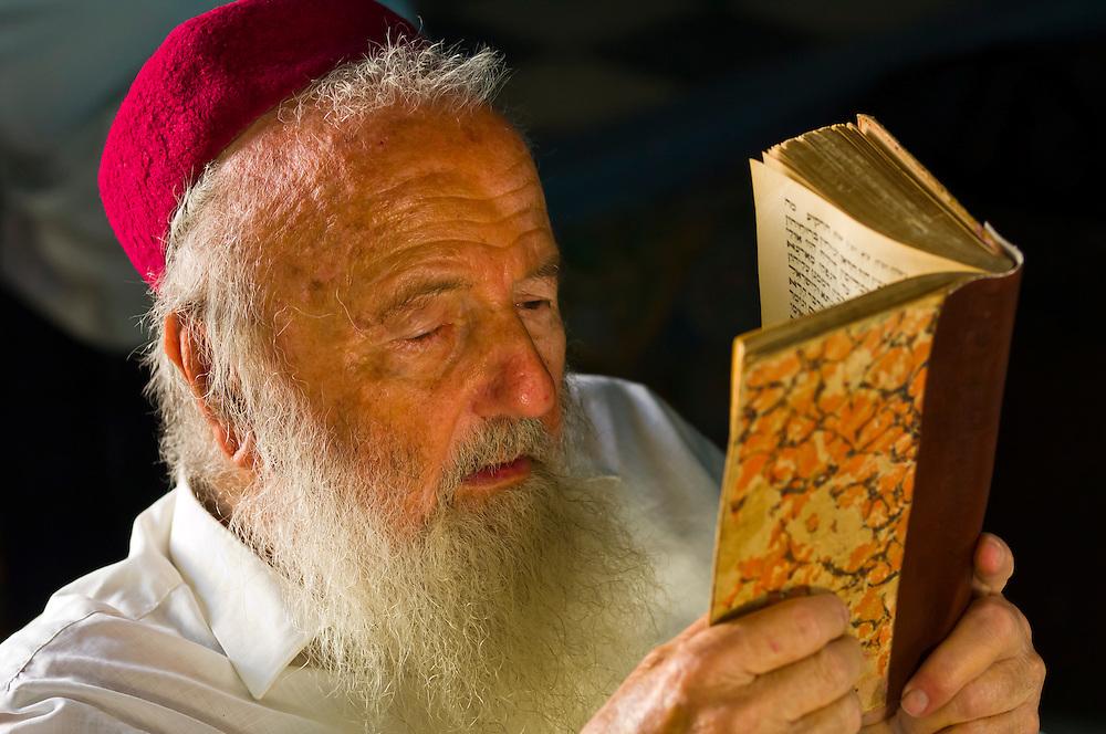 Rabbi reading Torah, El Ghriba Synagogue, Djerba Island, Tunisia