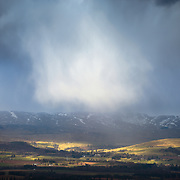 From Eastbow Hill above Gleneagles. Always nice watching weather fronts slowly moving over the land from afar, grabbed this shot while waiting for the light to re-appear.