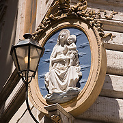 Detail on building at Piazza Colonna, Rome, Italy