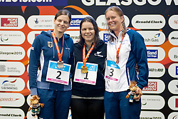 FISHER Mary, SCHULTE Daniela, REICHARD Maja NZL, GER, SWE at 2015 IPC Swimming World Championships -  Women's 200m Individual Medley SM11