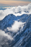 Swift Creek Valley in winter, seen from Artist Point. North Cascades Washington
