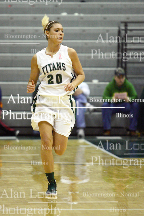 17 December 2011:  Whitney Scurlock during an NCAA womens division 3 basketball game between the St. Francis Fighting Saints and the Illinois Wesleyan Titans in Shirk Center, Bloomington IL