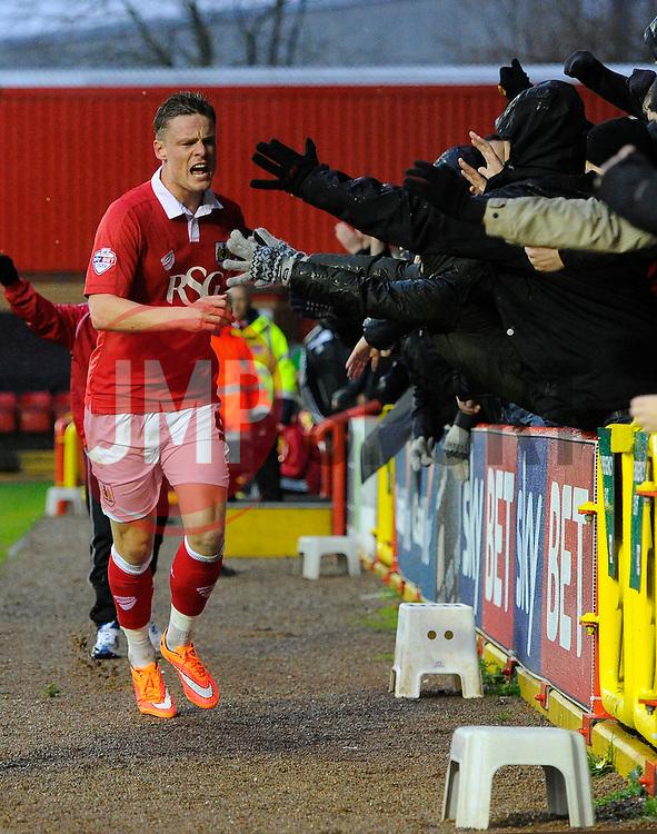 Bristol City's Matt Smith celebrates  - Photo mandatory by-line: Joe Meredith/JMP - Mobile: 07966 386802 - 26/12/2014 - SPORT - football - Bristol - Ashton Gate - Bristol City v Yeovil Town - Sky Bet League One