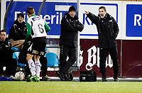 Fotball<br /> Kval til Tippeligaen <br /> AKA Stadion 14.11.10<br /> Hønefoss BK - Ranheim<br /> Per Joar HAnsen og Otto Ulseth instruerer<br /> Foto: Eirik Førde