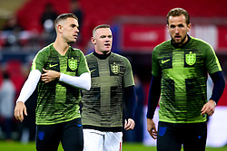 Wayne Rooney of England, Jordan Henderson of England and Harry Kane of England - Mandatory by-line: Robbie Stephenson/JMP - 15/11/2018 - FOOTBALL - Wembley Stadium - London, England - England v United States of America - International Friendly