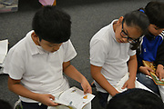 Braeburn ES students are able to take six free books to add to their home libraries, thanks to Books Between Kids.