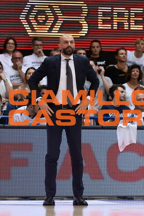 Maurizio Buscaglia<br /> Dolomiti Energia Aquila Basket Trento - Umana Reyer Venezia <br /> Lega Basket Serie A 2016/17 Finali Gara 04<br /> Trento, 16/06/2017<br /> Foto Ciamillo-Castoria