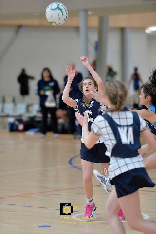 Tanya Dearns Cup - Wellington Junior Netball Tournament at ASB Sports Centre, Kilbirnie, Wellington, New Zealand on Thursday 8 August 2013.<br /> Photo by Masanori Udagawa. <br /> www.photowellington.photoshelter.com