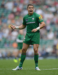 London Irish Outside Centre Fergus Mulchrone - Photo mandatory by-line: Alex James/JMP - 07966 386802 - 06/09/2014 - SPORT - RUGBY UNION - London, England - Twickenham Stadium - Saracens v Wasps - Aviva Premiership London Double Header.