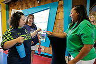 July 10, 2019: The OKC Energy FC holds an event for their Sidekicks program in partnership with Special Olympics Oklahoma at Andy Alligators Fun Park in Norman, Oklahoma