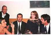 HERB RITTS; MADONNA; RUPERT EVERETT.  Vanity Fair Oscar night party. Mortons. Los Angeles. 28 March 1999. Film 99185f12<br /> &copy; Copyright Photograph by Dafydd Jones 66 Stockwell Park Rd. London SW9 0DA<br /> Tel 0171 733 0108<br /> www.dafjones.com
