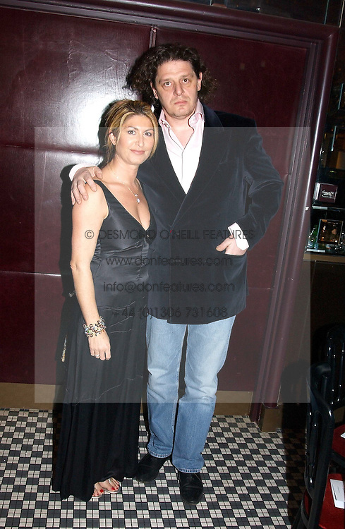 Chef MARCO PIERRE WHITE and his wife MATI at a fund raising dinner hosted by Marco Pierre White and Frankie Dettori's in aid of Conservative Party's General Election Campaign Fund held at Frankie's No.3 Yeoman's Row,æLondon SW3 on 17th January 2005.<br /><br />NON EXCLUSIVE - WORLD RIGHTS