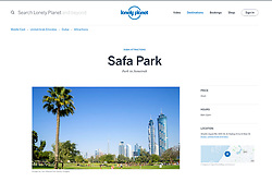 Lonely Planet website; Safa Park in Dubai