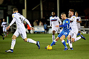 Peterborough Utd midfielder Joe Ward (15) striding forward during the EFL Sky Bet League 1 match between Peterborough United and Rochdale at London Road, Peterborough, England on 12 January 2019.