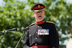 Colonel of the Regiment  Colonel Simon Newton MBE  Freedom Parade 3rd Battalion The Yorkshire Regiment Barnsley South Yorkshire  22 June 2010 .Images © Paul David Drabble.