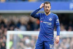 Eden Hazard of Chelsea looking bemused - Mandatory by-line: Arron Gent/JMP - 10/03/2019 - FOOTBALL - Stamford Bridge - London, England - Chelsea v Wolverhampton Wanderers - Premier League