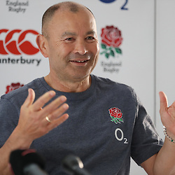 Eddie Jones (Head Coach) of England during the England Press Conference and England Recovery at the  Kashmir restaurant, and team Hotel Umhlanga, Durban,South Africa.03,06,2018 Photo by (Steve Haag)