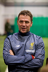 LIVERPOOL, ENGLAND - Wednesday, February 7, 2018: Michael Owen during a media session at the Liverpool Academy ahead of the LFC Foundation charity match between a Liverpool FC Legends team and FC Bayern Munich Legends. (Pic by David Rawcliffe/Propaganda)