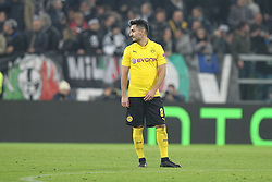 24.02.2015, Veltins Arena, Turin, ITA, UEFA CL, Juventus Turin vs Borussia Dortmund, Achtelfinale, Hinspiel, im Bild enttaeuschung bei Ilkay Guendogan #8 (Borussia Dortmund) // during the UEFA Champions League Round of 16, 1st Leg match between between Juventus Turin and Borussia Dortmund at the Veltins Arena in Turin, Italy on 2015/02/24. EXPA Pictures © 2015, PhotoCredit: EXPA/ Eibner-Pressefoto/ Kolbert<br /> <br /> *****ATTENTION - OUT of GER*****