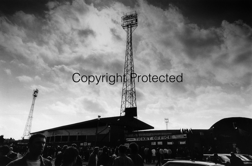 Outside the East stand  twenty minutes before kick off. Boro v Stoke, April 7th 1995.