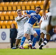 Dundee&rsquo;s Kevin Holt tackles St Johnstone&rsquo;s Chris&nbsp;Kane - St Johnstone v Dundee, Ladbrokes Scottish Premiership at McDiarmid Park, Perth. Photo: David Young<br /> <br />  - &copy; David Young - www.davidyoungphoto.co.uk - email: davidyoungphoto@gmail.com