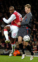 Photo: Ed Godden.<br /> Arsenal v CSKA Moscow. UEFA Champions League, Group G. 01/11/2006. Arsenal's William Gallas (L) has a shot on goal.