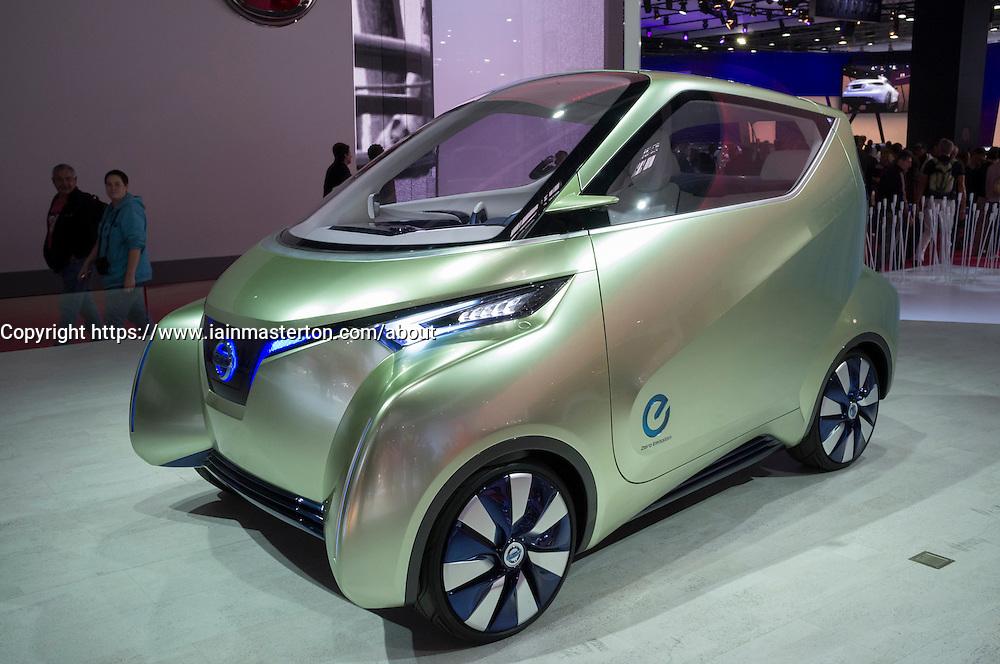 Nissan Pivo 3 electric car on display at Paris Motor Show 2012