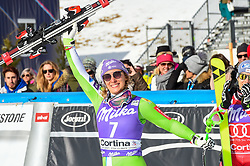 19.01.2019, Olympia delle Tofane, Cortina d Ampezzo, ITA, FIS Weltcup Ski Alpin, Abfahrt, Damen, Siegerehrung, im Bild Ilka Stuhec (SLO, dritter Platz) // third place Ilka Stuhec of Slovenia during the winner Ceremony of the ladie's Downhill of FIS ski alpine world cup at the Olympia delle Tofane in Cortina d Ampezzo, Italy on 2019/01/19. EXPA Pictures © 2019, PhotoCredit: EXPA/ Erich Spiess