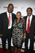 l to r: Gregory Gates, Moikgantsi Kgama and Bill McCreary at The ImageNation celebration for the 20th Anniversary of ' Do the Right Thing' held Lincoln Center Walter Reade Theater on February 26, 2009 in New York City. ..Founded in 1997 by Moikgantsi Kgama, who shares executive duties with her husband, Event Producer Gregory Gates, ImageNation distinguishes itself by screening works that highlight and empower people from the African Diaspora.