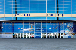 View of Barys Arena one day before at IIHF World Championship DIV. I Group A Kazakhstan 2019, on April 28, 2019 in Barys Arena, Nur-Sultan, Kazakhstan. Photo by Matic Klansek Velej / Sportida