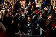 Chicago, Illinois, USA, 20081104:   Entusiasme i Obama-leiren ettersom resultatene tikker inn.<br /> <br /> Photo: Orjan F. Ellingvag/ Dagbladet/ Corbis