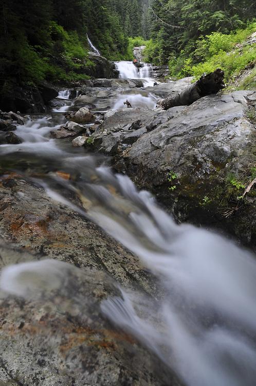 Denny Creek Waterslides, Mt. Baker-Snoqualmie National Forest, Washington, US