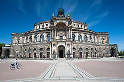 The Semperoper Opera House in  Dresden Saxony Germany