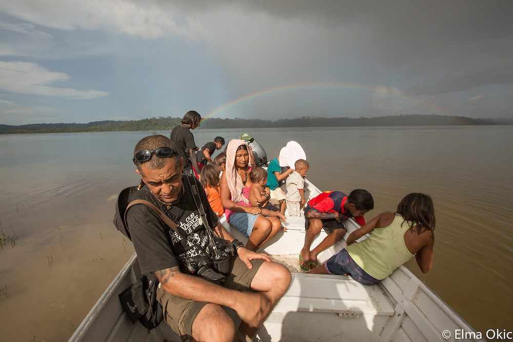 Visiting local riverine communities of Montahna e Mangabal are of the Tapajós River, State of Pará, Brazil.