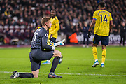 David Martin (GK) (West Ham) saves the ball during the Premier League match between West Ham United and Arsenal at the London Stadium, London, England on 9 December 2019.