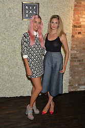 Left to right, AMBER LE BON and TAMSIN EGERTON at the launch of the new Rituals store at 29 James Street, Covent Garden, London on 1st September 2016.