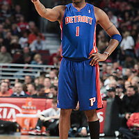 30 October 2010: Detroit Pistons Tracy McGrady is seen during the Chicago Bulls 101-91 victory over the Detroit Pistons at the United Center, in Chicago, Illinois, USA.