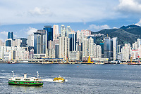Central skyline and waterfront at Causeway Bay in Hong Kong