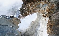 THEMENBILD - Großglockner im Sommer. das Bild wurde am 12. August 2012 aufgenommen. im Bild Glocknerschartel zwischen Großglockner und Kleinglockner, links die Pallavicinirinne, rechts die Südrinne // THEME IMAGE FEATURE - Großglockner at Summer. The image was taken on august, 12, 2012. Picture shows Glocknerscharte which is between Grossglockner and Kleinglockner, on the left side the Pallavicini Rinne and on the ride side the Suedrinne, AUT, EXPA Pictures © 2012, PhotoCredit: EXPA/ M. Gruber