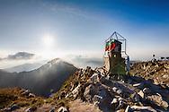 On Musala peak at sunrise