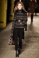 Marike Le Roux walks down runway for F2012 Rag & Bone collection in Mercedes Benz fashion week in New York on Feb 10, 2012 NYC