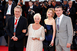 31.08.2013, Canal Grande, Venedig, ITA, La Biennale, 70. Filmfestspiele von Venedig, Philomena, im Bild Stephen Frears, Judi Dench, Sophie Kennedy Clark and Steve Coogan // during a photocall for the movie 'Philomena' of the 70th Venice International Film Festival at Canal Grande in Venice, Italy on 2013/08/31. EXPA Pictures © 2013, PhotoCredit: EXPA/ Newspix/ Dave Bedrosian<br /> <br /> ***** ATTENTION - for AUT, SLO, CRO, SRB, BIH, TUR, SUI and SWE only *****