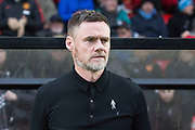 Salford City manager Graham Alexander before the EFL Sky Bet League 2 match between Salford City and Macclesfield Town at the Peninsula Stadium, Salford, United Kingdom on 23 November 2019.