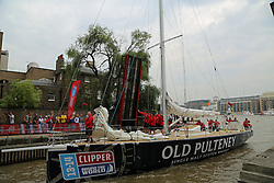 © Licensed to London News Pictures. 23/08/2013. Clipper Race vessel sponsored by Old Pulteney arrives at St Catherines Docks credit : Rob Powell/LNP